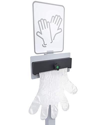 Klemp Spender für Einmalhandschuhe, mobiler Alu Handschuhspender für Einweghandschuhe, stehend, 120cm