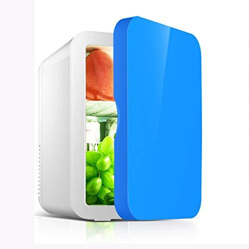 Rindasr 8L Mini Nevera pequeña, la refrigeración de una Sola Puerta y congelador preservación del Calor, al Aire Libre del hogar portátil Electricidad refrigerador en el Dormitorio (Color : Blue)