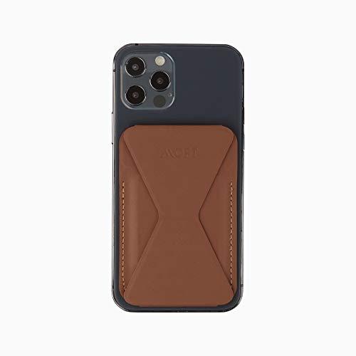 MOFT スマホ iPhone マグセーフ対応 ウォレットスタンド mag safe iPhone12 pro mini (ブラウン)