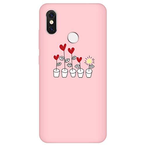 Eouine Capa para Xaiomi Mi CC9e / Mi A3, capa de telefone 3D silicone rosa fosco com padrão ultra fino à prova de choque capa de borracha macia bumper para smartphone Xaiomi Mi CC9e/Mi A3, 18