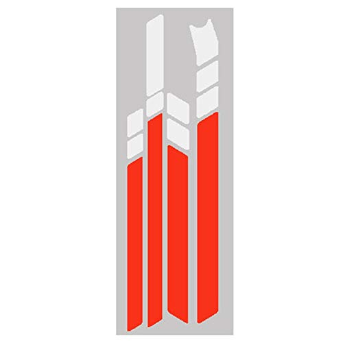 Suading Pegatinas reflectantes de PVC impermeables para Ninebot MAX G30 Kickscooter plegables (blanco y rojo)