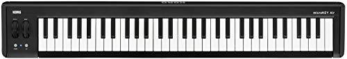 KORG microKEY2 Air 61 Keyboard mit 61 Tasten, schwarz, Bluetooth Controller, MIDI-Keyboard für Musik- bzw. Studioproduktionen