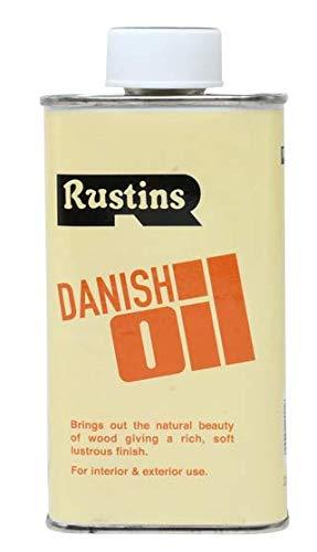 Rustins DANO500 Olio danese per legno, Protezione interno ed esterno, Trasparente, 500 ml
