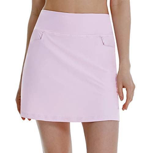 BALEAF Women's High Waisted Golf Skirts Tennis Athletic Running Workout Active Skorts Skirts with Pockets Purple Small