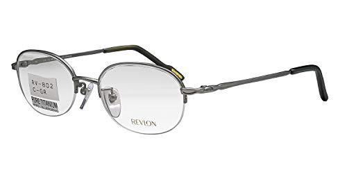 鯖江ワークス(SABAE WORKS) 遠近両用メガネ 老眼鏡 チタン グレー RV802C1 (度数+2.50, 遠近両用)