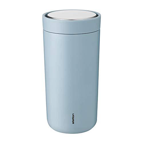 To Go Click Thermobecher 0,4L, soft wolke pulverbeschichtet doppelwandig H 17cm Ø 8,3cm smart-click Funktion 360° Position Innenwand Edelstahl