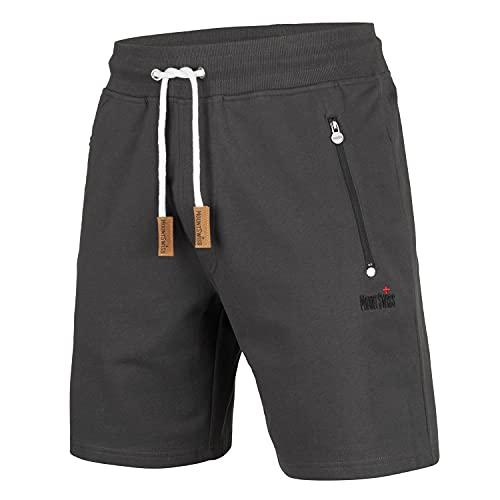 Mount Swiss Kurze Freizeithose Herren Liam I Kurze Sweatpants Herren mit Taschen - 2 Seiten- und 1 Gesäßtasche je mit Reißverschluß I Sport Shorts Herren in klassischen Farben