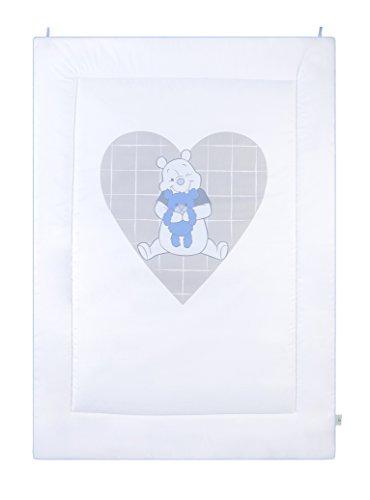 Julius Zöllner 9500015013 Tapis D'éveil Ourson Mon cœur bleu, Taille 95/135 cm