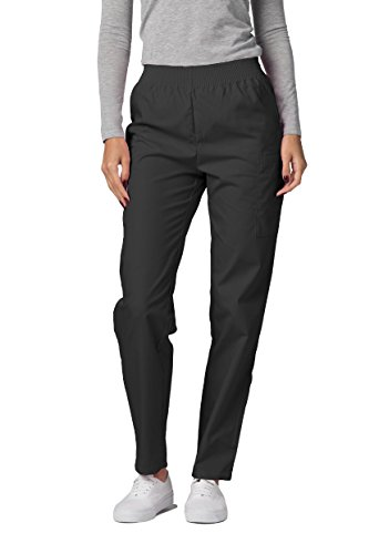 Adar Universal Scrubs for Women - Tapered Utility Cargo Scrub Trousers - 503 - Pewter - L