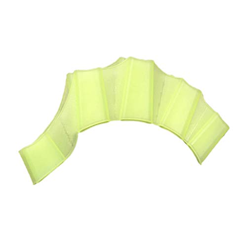 Warmword Silikonhand Schwimmflossen Schwimmflossen Schwimmhandschuh mit Palmfinger-Schwimmhäuten (Grün, S)