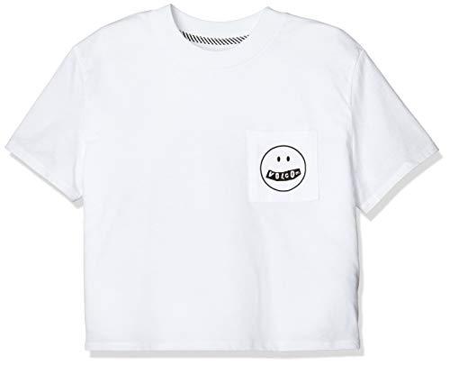 Volcom playera de manga corta con esfera de bolsillo para mujer - Blanco - Large