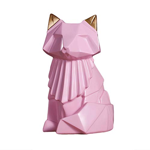 xiaoli Hucha Resina Piggy Bank, Estilo nórdico Creativo Dibujos Animados de Dibujos Animados de Regalos de cumpleaños de cumpleaños de Navidad Caja de Dinero Banco de Dinero (Color : Pink)