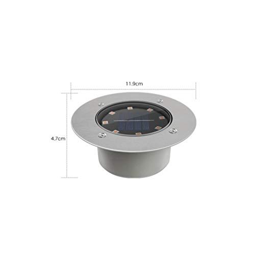 Solar Bodeneinbaustrahler Freien Solar Bodeneinbauleuchte 8 LED Wasserdicht Energiesparendes Untergrundlicht Hof Garten Park Platz Landschaft Rasen Strahlern[Energieklasse A +] (Color : WARM-8LED)