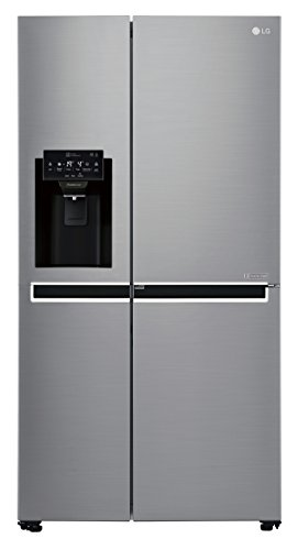LG Electronics GSJ 760 PZUZ Side by Side - Frigorífico americano (A++, 376 kWh/año, 179 cm, 405 L, 196 partes, acero, total No Frost)