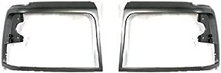 Diften 168-C1549-X01 - New Head light Headlight Doors Headlamp Bezels Set of 2 Left & Right Side Pair