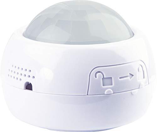 SCHWAIGER -ZHS05- 4 in 1 Bewegungsmelder/ Temperatursensor/ Helligkeitssensor/ Feuchtigkeitsmesser/ Alarm/ Z-Wave/ Smart Home/ Steuerung per App/ Sprachsteuerung mit Alexa, Google