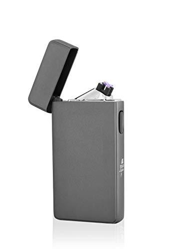 TESLA Lighter TESLA Lighter T13 Lichtbogen-Feuerzeug, elektronisches USB Feuerzeug, Double-Arc Lighter, wiederaufladbar, Blau Blau
