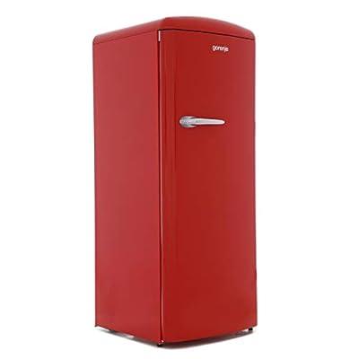Gorenje ORB153RD 60cm Wide Right Hinge Retro Style Freestanding Fridge - Fiery Red