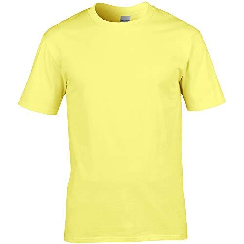 Gildan Premium T-Shirt für Männer X-Large,Cornsilk
