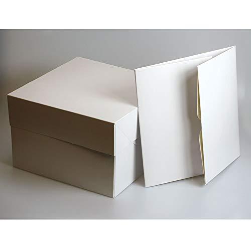 Culpitt - Cajas para Tartas (22,8 cm, cuadradas), Color Blanco 127 mm de Alto (Paquete de 5)