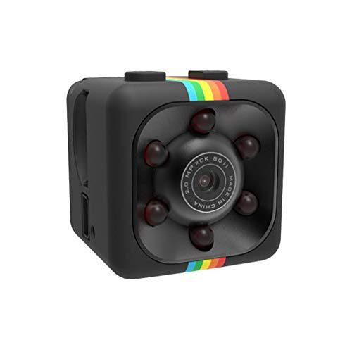 Mini cámara de vigilancia de infrarrojos con visión nocturna Full HD 1080p, batería de larga duración, cámara con detección de movimiento e imán, cámara compacta con pilas para interiores