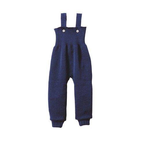 Disana 33104XX - Strick-Trägerhose Wolle marine, Size / Größe:86/92 (1-2 Jahre)