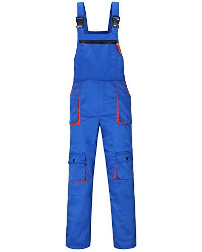 Jkroling Herren Arbeitshose Berufsbekleidung Sicherheitshose Latzhose Hose Arbeitsschutzbekleidung (XXX-Large, Königsblau)