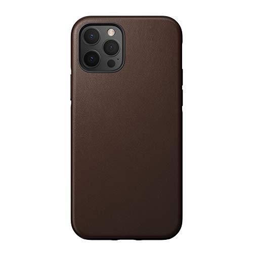 NOMAD - Carcasa de piel para iPhone 12 Max y iPhone 12 Pro, color marrón