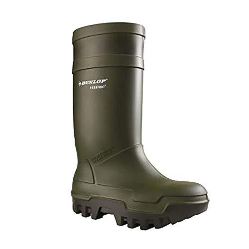 Dunlop - Botas de Seguridad Estilo Wellington Unisex Modelo Purofort térmicas para Adultos (46 EU) (Verde)