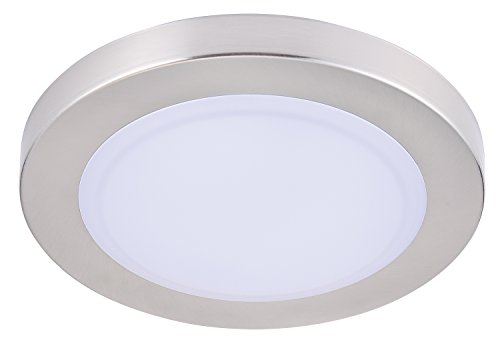 Cloudy Bay LMFFM712830BN 7.5 inch LED Mini Flush Mount Ceiling light 3000K Warm White Dimmable 12W 840lm -100W Incandescent Fixture Equivalent, bathroom hallway stairway lighting, Wet Location