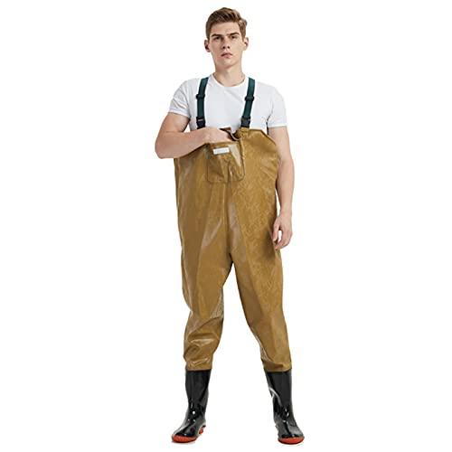 CAMILYIN Vadeadores de Pesca para Hombre,Pantalones de Vadeo Impermeables Engrosados, Pantalones de Vadeo de Media Longitud para Hombres de Pesca,Pantalón Impermeable de Una Pieza,1,39