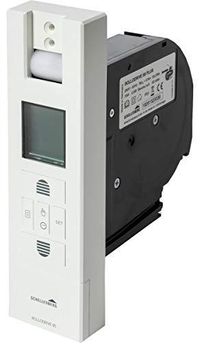 Schellenberg 22766 Elektrischer Gurtwickler RolloDrive 65 Plus Unterputz Rolladenantrieb, bis 6 m² Rollladenfläche, 10 Nm, Gurtband 23 mm, Zugkraft max. 45 kg, mit Display, Zeit- und Astrofunktion