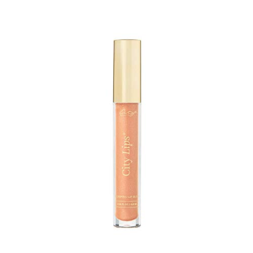City Beauty City Lips - Plumping Lip Gloss - Hydrate & Volumize - All-Day Wear - Hyaluronic Acid & Peptides Visibly Smooth Lip Wrinkles - Cruelty-Free (Nude York)