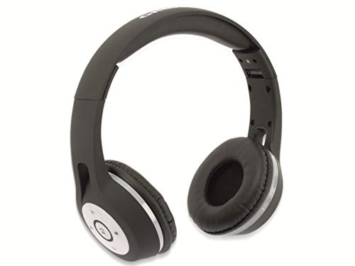 GRUNDIG Bluetooth Stereo Kopfhörer/Headset mit integrierter Steuerung und LED-Beleuchtung Schwarz faltbar Smartphone Tablet Stereokopfhörer