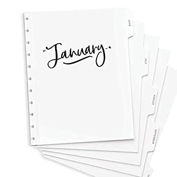 BetterNote Dividers for Letter Size Discbound Planners Tabbed Pages fit 11-Disc Calendar Notebook Fits Levenger Circa Arc by Staples TUL by Office Depot 8.5 x11  Whimsy  Planner Not Included