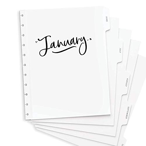 BetterNote 2021 Monthly Calendar Tabbed Dividers for Discbound Planners, 11-Disc Notebook, Fits Circa Letter, Arc by Staples, TUL by Office Depot, Letter Size 8.5'x11' Whimsy (Planner Not Included)