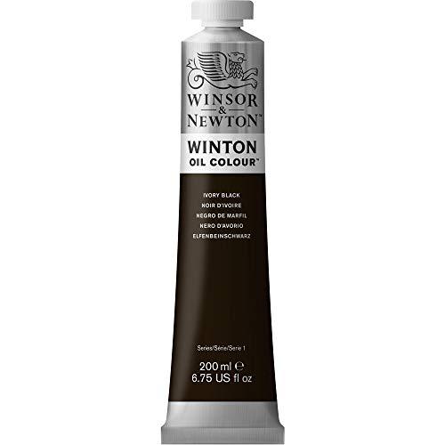 Oferta de Winsor & Newton Winton - Tubo De Pintura Al Óleo, 200 ml, Negro De Marfil