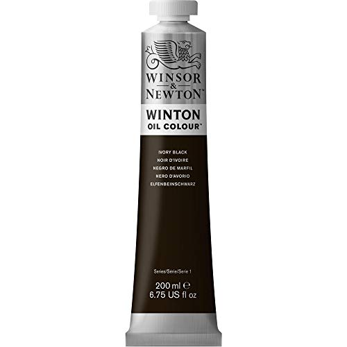 Winsor & Newton Winton - Pintura al óleo, color Negro (Ivory Black), 200 ml