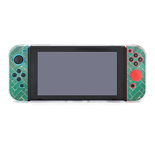 Funda para Nintendo Switch Green Herringbone Brick 5 piezas Funda protectora compatible...