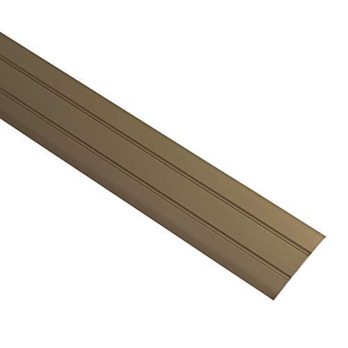 ALPENSTAHL Perfil de transición autoadhesivo para suelos, laminados y mucho más. Longitud de 100 cm, ancho de 37 mm, perfil de suelo bronce, marrón, 1 unidad, moldura de aluminio para pegar