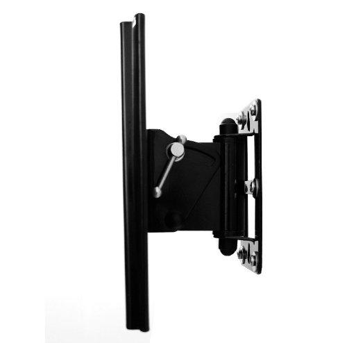 Brateck - Supporto a staffa da parete per schermo LED / LCD / al plasma, orientabile, distanza dalla parete: 3,4 cm, per 200 x 200, da 42 a 65 pollici (42' 46' 42' 50' 32' 37' 39' 40' 42'), per Samsung LG Philips Panasonic Sony Medion Tevion Toshiba Thomson Acer Loewe Sharp, colore: Nero