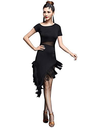 besbomig Sexy Lateinisches Tanzkleid Mit Quaste Damen Wettbewerb Dancewear - Ballroom Salsa Samba Tango Cocktail Partykleider