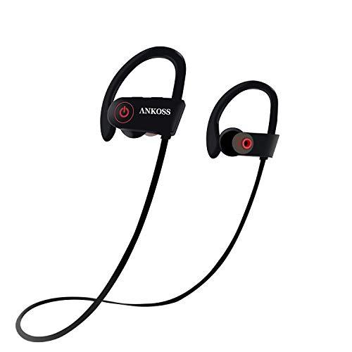 Auriculares Bluetooth deportivos, inalámbricos, con micrófono HD, impermeables, resistentes al sudor, para correr, correr y gimnasio.