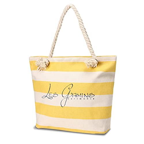 LEONARDO Les Gamins Paris Borsa da Spiaggia in Tela, Borse a Spalla da Donna, Borse Tracolla Borse, Zaino Casual Borsa Tracolla Donna per Shopping, Viaggio.