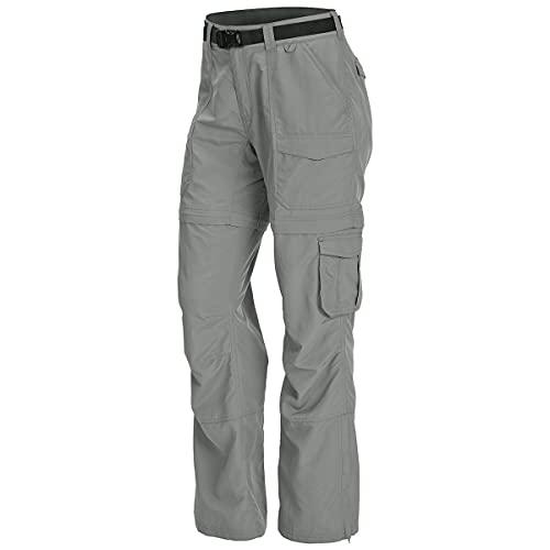 Women's Camp Cargo Zip-Off Pants Neutral Gry 10/S