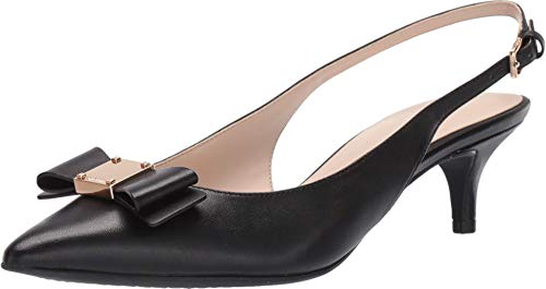 Cole Haan Women's TALI Bow Sling Pump, Barbados Cherry Leather, 5.5 B US