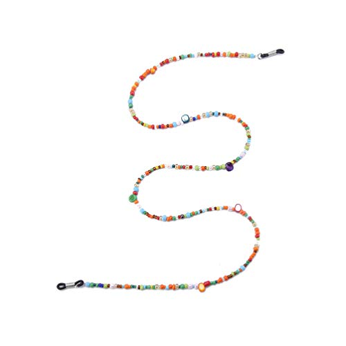 HEALLILY Cadenas de Deslizamiento de la Lente Gafas de Cuentas Gafas de Sol de la Cadena de Cadena de cordón para el Cuello Correa de Soporte de cordón contra (Multicolor)