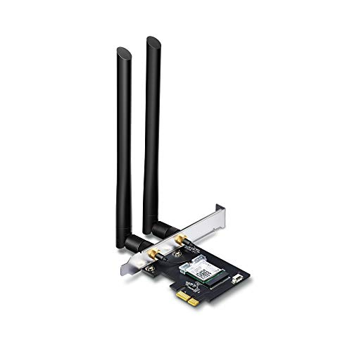 TP-Link: Scheda di rete Wi-Fi con Bluetooth 4.2, AC1200 5G + 2.4G Wi-Fi Gigabit scheda PC WiFi, chipset Inter AC7265 con 2 antenne rimovibili ad alto guadagno 5dbi, Win 10/8.1/8/7 (ARCHER T5E)