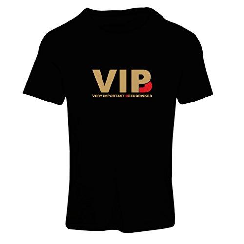 lepni.me Frauen T-Shirt Sehr wichtig Biertrinker - Alkohol, betrunken, lustig Trinksprüche - Humorvolle Geschenkideen, Bar oder Partykleidung (X-Large Schwarz Gold)