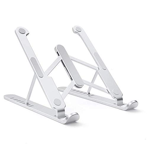 Portable Laptop Stand Foldable Support Notebook Base Stand Holder For Macbook Pro Air Lapdesk Computer Cooling Pad Cooler Riser (PL1 silver)